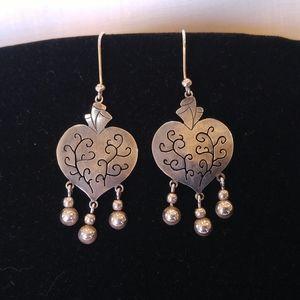 🌈HP☀️Maria Belen Milagro Sterling Heart Earrings